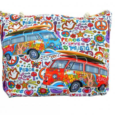 Sac de plage peace & love